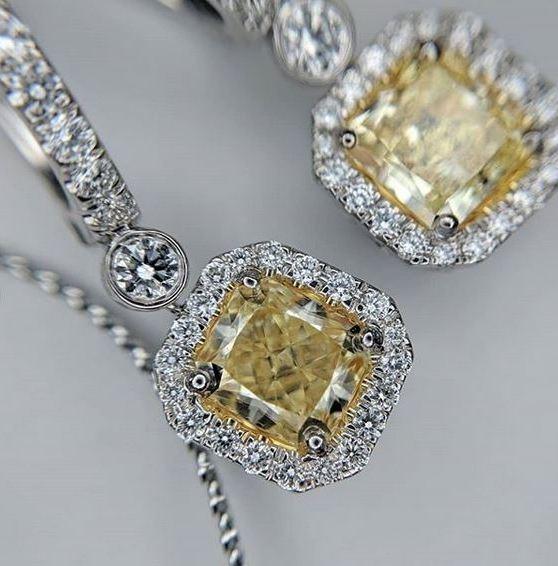 Pawn Yellow Diamond Earrings